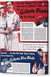 Gillette Razor Ad, 1939 Acrylic Print by Granger