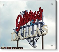 Acrylic Print featuring the photograph Gilleys Dallas by Charlie and Norma Brock