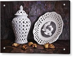 Ginger Jar And Compote Still Life Acrylic Print