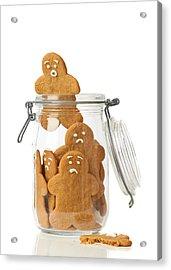 Gingerbread Men Escape Acrylic Print by Amanda Elwell