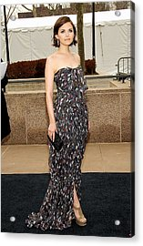 Ginnifer Goodwin Wearing A Yves Saint Acrylic Print by Everett