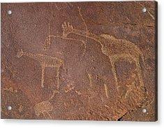 Giraffe Petroglyphs Namibia Acrylic Print