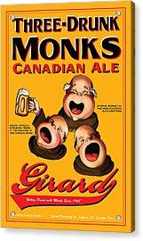 Girard Three Drunk Monks Acrylic Print by John OBrien