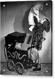 Girl And Baby Acrylic Print by George Marks