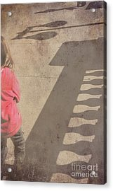 Girl And Shadows Acrylic Print by Jim Wright