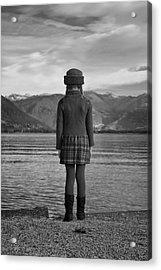 Girl At A Lake Acrylic Print by Joana Kruse