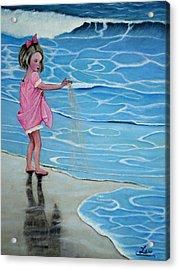 Girl At Beach #1 Acrylic Print