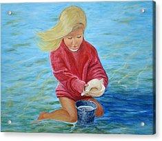 Girl At Beach #2 Acrylic Print