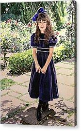 Girl At The Huntington Acrylic Print by David Lloyd Glover