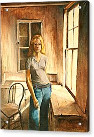 Girl At The Window Acrylic Print by Rita Bentley