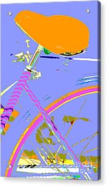 Girl Bicycle Pop Art Acrylic Print