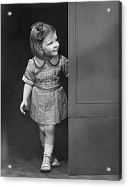 Girl Coming Outside Acrylic Print by George Marks