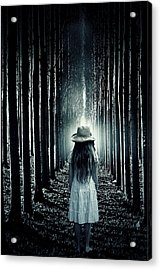 Girl In The Forest Acrylic Print by Joana Kruse