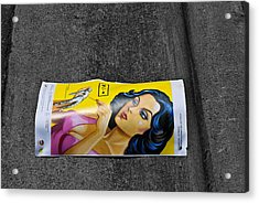 Girl In The Street Acrylic Print by Bennie Reynolds