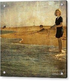 Girl On A Shore Acrylic Print by Paul Grand