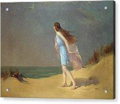 Girl On The Beach  Acrylic Print