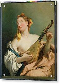 Girl With A Mandolin Acrylic Print
