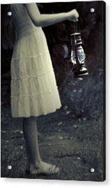 Girl With An Oil Lamp Acrylic Print