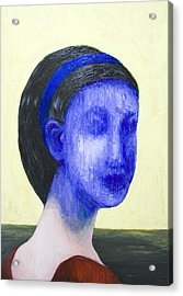 Girl With No Face Acrylic Print by Kazuya Akimoto