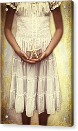 Girl With Starfish Acrylic Print by Joana Kruse