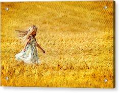 Girl With The Golden Locks Acrylic Print