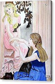 Girlfriend's Number One Acrylic Print by Cathy Jourdan