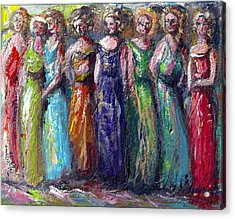 Acrylic Print featuring the painting Girls Night Out by Bernadette Krupa