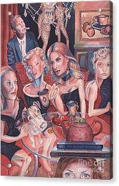Girls Night Out Acrylic Print by Lisa Hershman