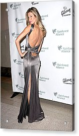 Gisele Bundchen  Wearing A Versace Acrylic Print by Everett