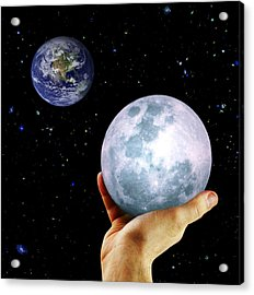 Give Her The Moon Acrylic Print by Michele Cornelius