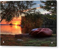 Give Me A Canoe Acrylic Print by Lori Deiter