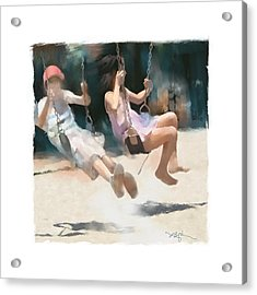 Give Me A Push Acrylic Print by Bob Salo