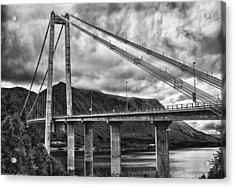 Gjemnessund Bridge Acrylic Print by A A