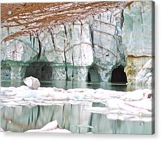 Acrylic Print featuring the photograph Glacial Cave by Brian Sereda