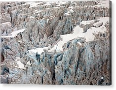 Glacial Crevasses Acrylic Print by Mike Reid