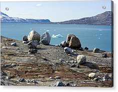 Glacial Erratics And Fjord Acrylic Print