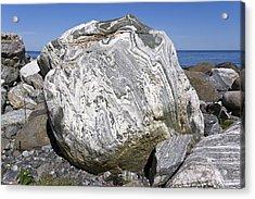 Glacial Gneiss Erratic Acrylic Print