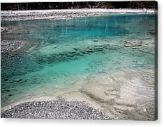 Acrylic Print featuring the photograph Glacial Pool by Laurel Talabere