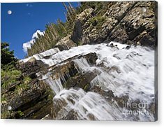 Glacier Falls Acrylic Print by Scotts Scapes