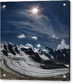 Glacier In Heaven Acrylic Print by Bruno Santoro