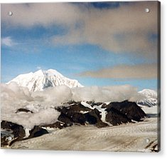 Glacier In The Clouds Acrylic Print