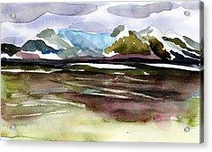 Glacier Near Juneau Acrylic Print by Mindy Newman