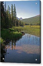 Glacier Slough Swan River Montana Acrylic Print
