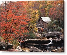 Glade Creek Grist Mill    Horizontal Acrylic Print