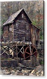 Glade Creek Grist Mill Series II Acrylic Print by Kathy Jennings