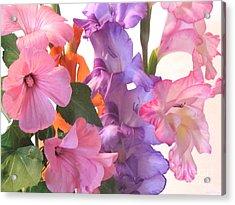 Gladiola Bouquet Acrylic Print by Kathie McCurdy