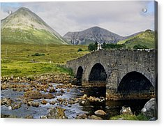 Glamaig And Sligachan Bridge Acrylic Print