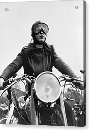 Glamorous Biker Acrylic Print by Keystone Features
