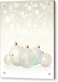 Glass Baubles Pastel Acrylic Print by Jane Rix