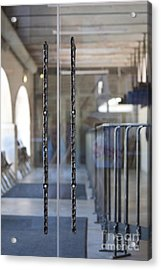 Glass Doors To A Traditional Music Center Acrylic Print by Jaak Nilson